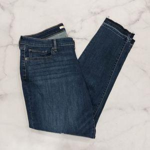 Levi's Distressed 711 Skinny Jeans Exposed Hem